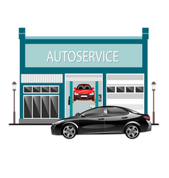 car services outside with car vector image