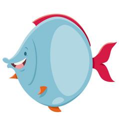 Cartoon fish animal character vector