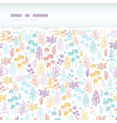 Colorful flowers and plants horizontal torn vector image