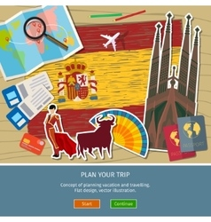 Concept travel or studying spanish vector