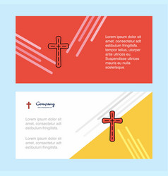 cross abstract corporate business banner template vector image