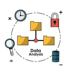 Data analysis concept vector