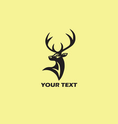deer logo template vector image
