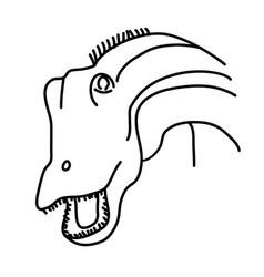 diplodocus icon doodle hand drawn or black vector image