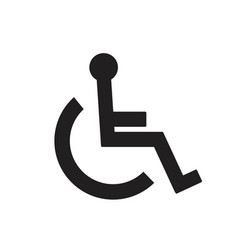 Disabled handicap icon isolated on white vector