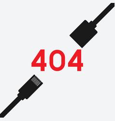 disconnect error symbol 404 error page vector image