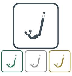 diving snorkel icon vector image