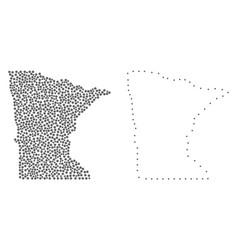 Dot contour map of minnesota state vector