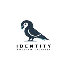 Dove or pigeon bird logo vector