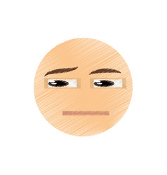 Drawing think emoticon image vector