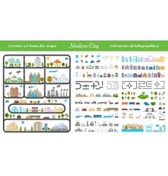 Elements modern city - stock vector