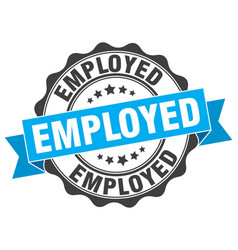 employed stamp sign seal vector image