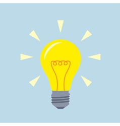 flat bulb vector image
