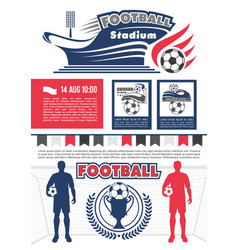 Football sport competition poster for soccer match vector