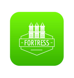 fortress icon green vector image