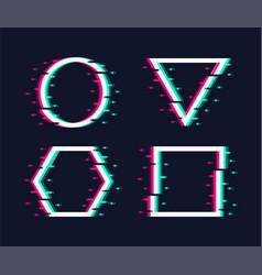 glitch frames set vector image