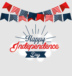 Happy independence day celebration vector