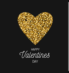 happy valentines day postcard banner vector image