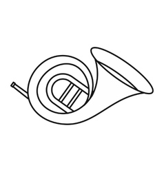 Horn trumpet icon outline style vector image