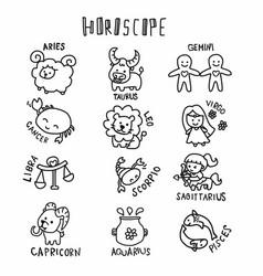 horoscope cute cartoon vector image