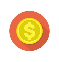 icon coin vector image