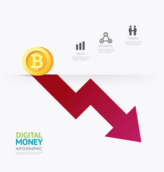 infographic business digital cryptocurrency money vector image