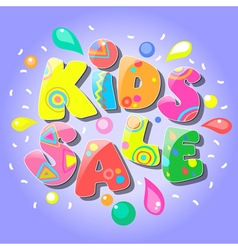 Kids sale banner vector