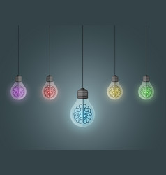 lightbulbs hang vector image