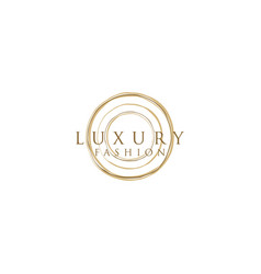 Luxury design for fashion logo vector