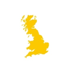 Map of Great Britain icon flat style vector