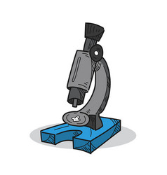 microscope on a white background vector image