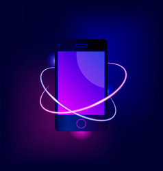 mobile phone concept vector image