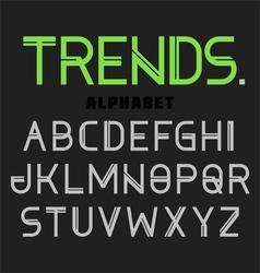 Modern alphabet Trends vector image