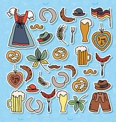 Oktoberfest elements set vector
