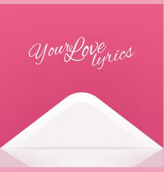 open envelope love letter vector image