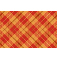 Orange plaid tartan seamless pattern vector