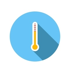 Outdoor thermometer flat icon vector image