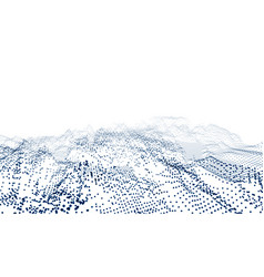 Particles connection wave on white background vector