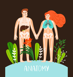 People anatomy poster vector