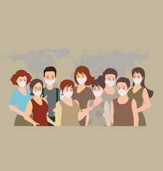 People wearing medical masks to prevent vector