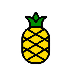 Pineapple tropical related filled style icon vector