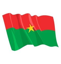 Political waving flag burkina faso vector