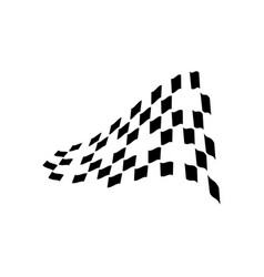 race flag graphic design template isolated vector image