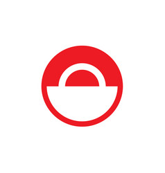 red and white circle sign vector image