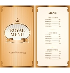 Royal menu for a cafe or restaurant vector