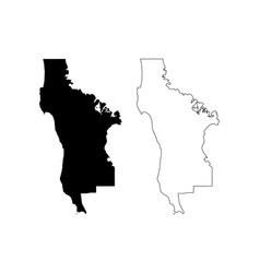 San mateo county california map vector