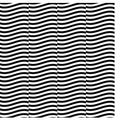 seamless pattern with wavy waving parallel lines vector image