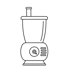 Small food mixer icon outline style vector