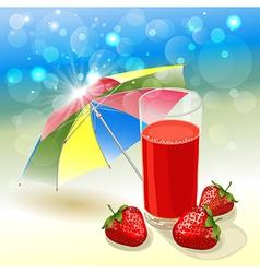 solar strawberry vector image vector image