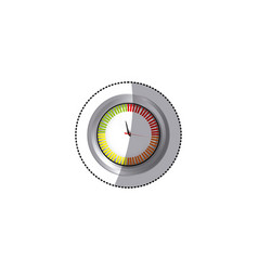 Sticker screen chronometer timer counter icon vector